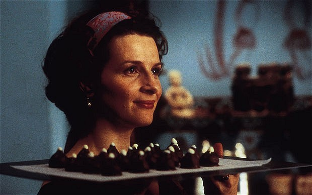 The beautiful Juliette Binoche in Chocolat. My hero.